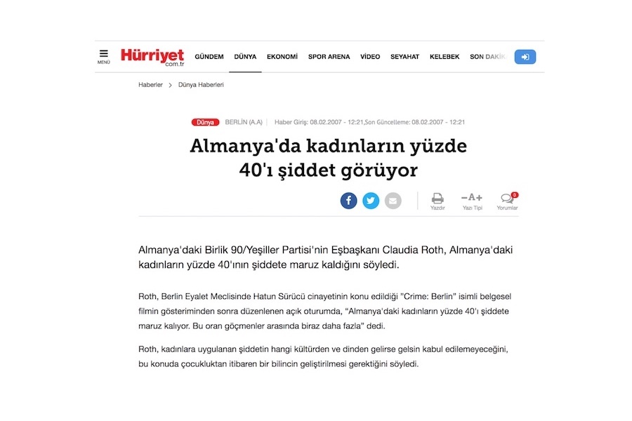 Hürriyet - Artikel
