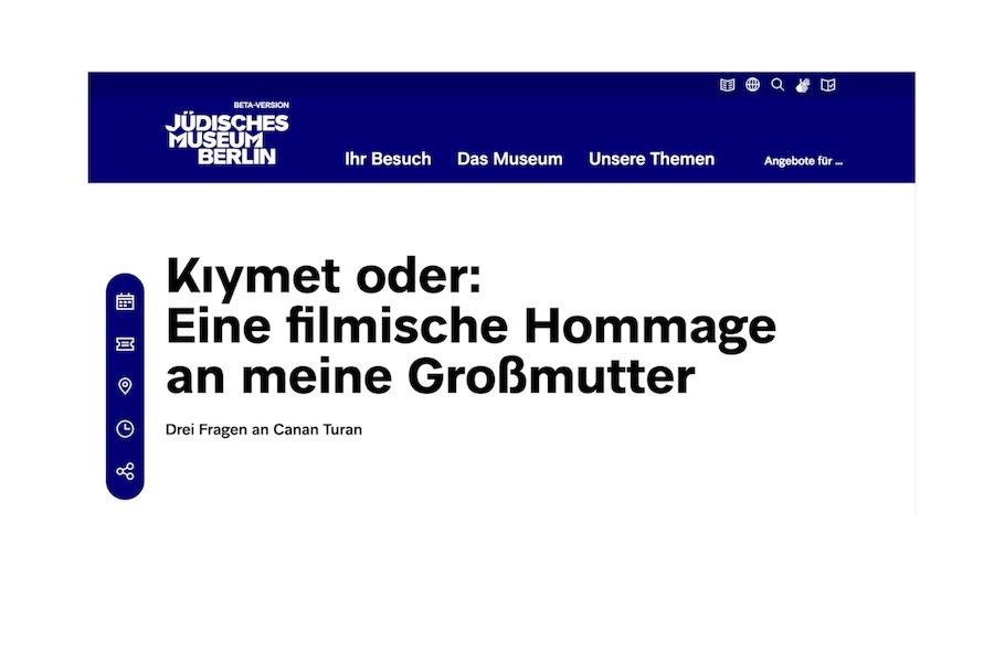 Jüdisches Museum Berlin - Interview