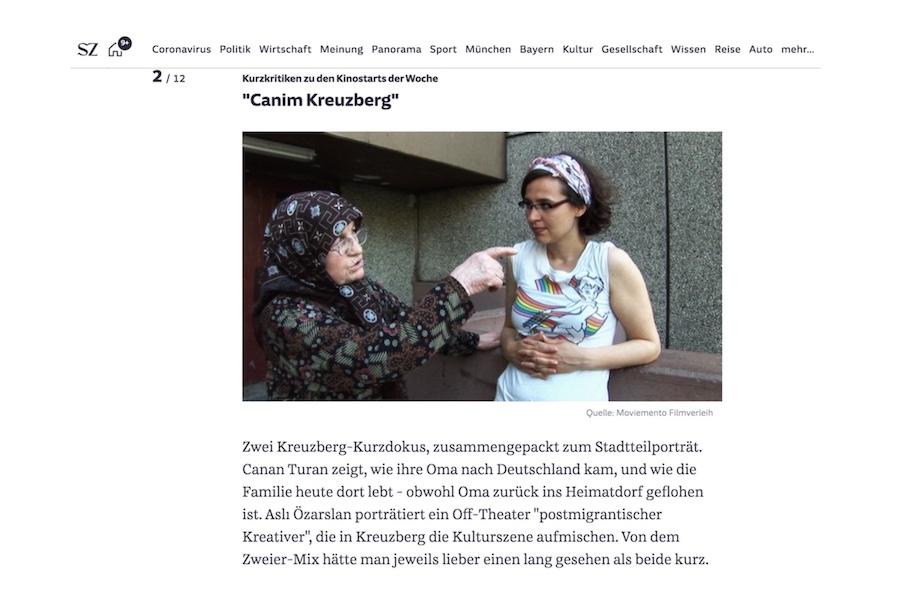 Süddeutsche Zeitung - Kritik